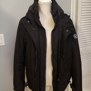 American eagle hooded black coat unisex